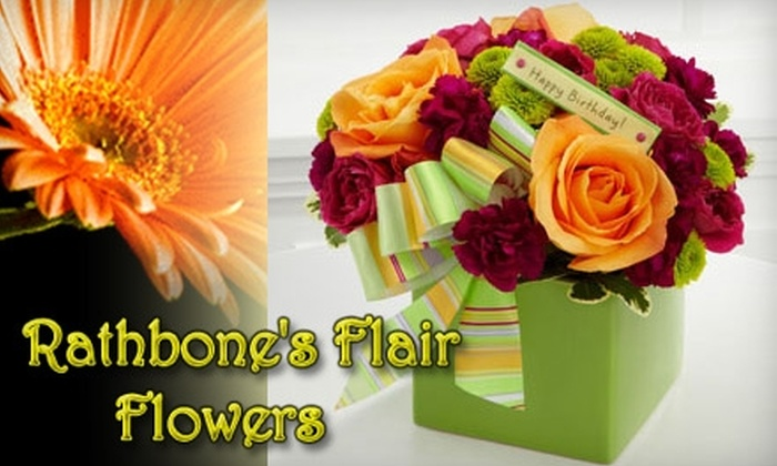 Rathbone's Flair Flowers - Jenks: $25 for $50 worth of Floral Arrangements from Rathbone's Flair Flowers in Jenks