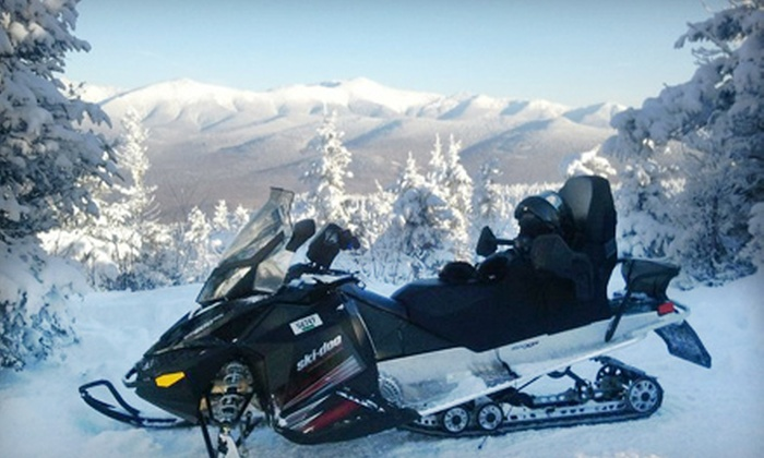 SledVentures Snowmobile Rentals - Lincoln: Two Snowmobiles for Bog Pond or Franconia Notch State Park Tour on a Sunday–Friday or Saturday from SledVentures Snowmobile Rentals in Lincoln ($298 Value)