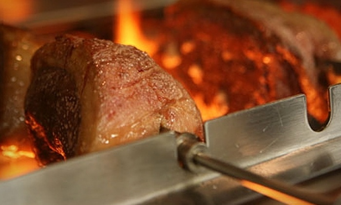 Em Chamas Brazilian Grill - Multiple Locations: $25 for $50 Worth of Classic Brazilian Rodízio  Cuisine at Em Chamas Brazilian Grill