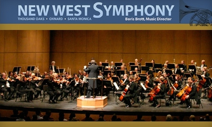 New West Symphony - Downtown Santa Monica: $20 for One Orchestra-Center Ticket to the New West Symphony's East Meets West on Sunday, 4/18, at 4 p.m. ($78 Value). Click Below for Ticket to Soiree Romantique on Sunday, 5/16, at 4 p.m.