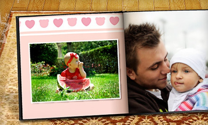 """Printerpix: $9 for an 8""""x8"""" Personalized Leather-Bound Photo Book from Printerpix ($49.99 Value)"""