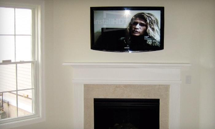 InstallHDTV.com: $189 for an Advanced Flat-Screen-TV Installation Including a Tilted Wall Mount from InstallHDTV.com (Up to $389.99 Value)