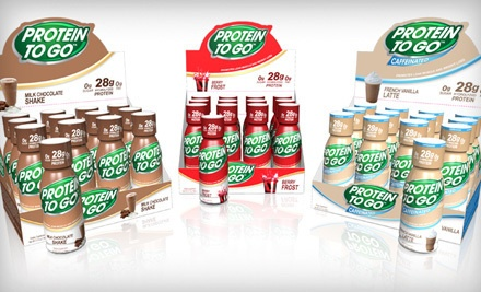Protein To Go 24-Pack: Caffeinated French-Vanilla Latte (a $72 value) - Two Dozen Protein Shots in