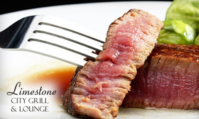 Limestone City Grill and Lounge - Palos Heights: $25 for $50 Worth of American Dinner Fare at Limestone City Grill and Lounge in Palos Heights (or $15 for $30 Worth of Lunch)