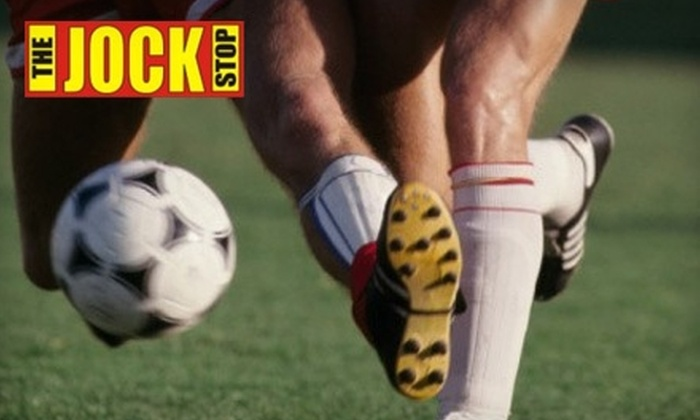 The Jock Stop - Villa Capri: $25 for $50 Worth of Athletic Gear and Equipment at The Jock Stop