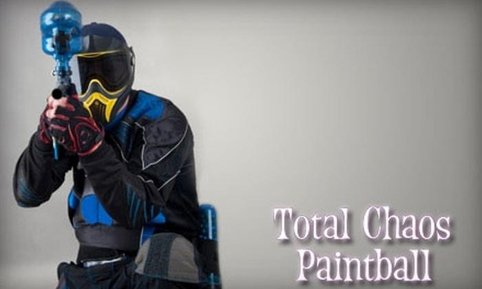 Total Chaos Paintball - I-70 Corridor: $59 for Admission, Gear Rental, and 200 Paintball Rounds for Two People at Total Chaos Paintball ($144 Value)