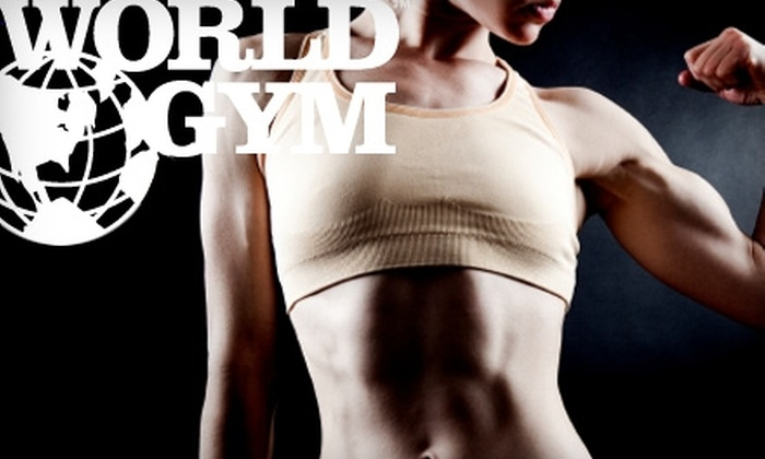 World Gym - Potrero: $10 for 30-Day Membership to World Gym ($40 Value)