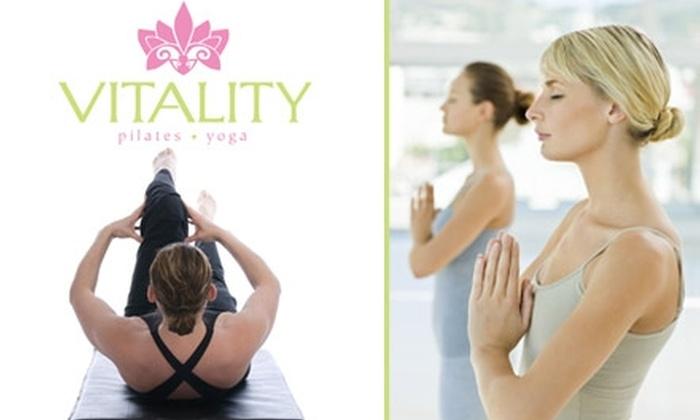 Vitality Pilates Yoga - Northwestern Precinct: $40 for 1-Month Unlimited Classes at Vitality Pilates Yoga