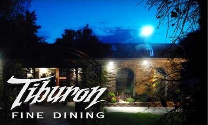 Tiburon Fine Dining - Sandy: $25 for $50 Worth of Fine American Fare and Drinks at Tiburon Fine Dining