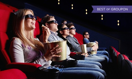 Movie and Popcorn for Two or Four Adults or Two Adults and Two Kids at Apple Cinemas (Up to 44% Off)