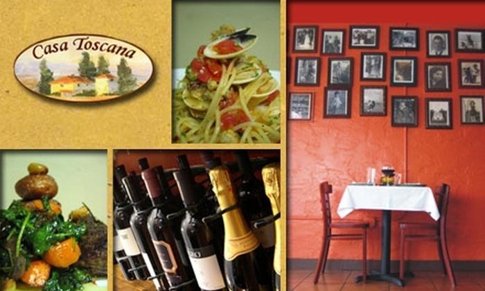 Casa Toscana Ristorante - Miami: $15 for $30 Italian Cuisine and Drinks at Casa Toscana Ristorante