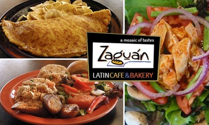 Zaguan Latin Café & Bakery - Multiple Locations: $10 for $20 Worth of Fresh Latin American Fare at Zaguan Latin Café & Bakery