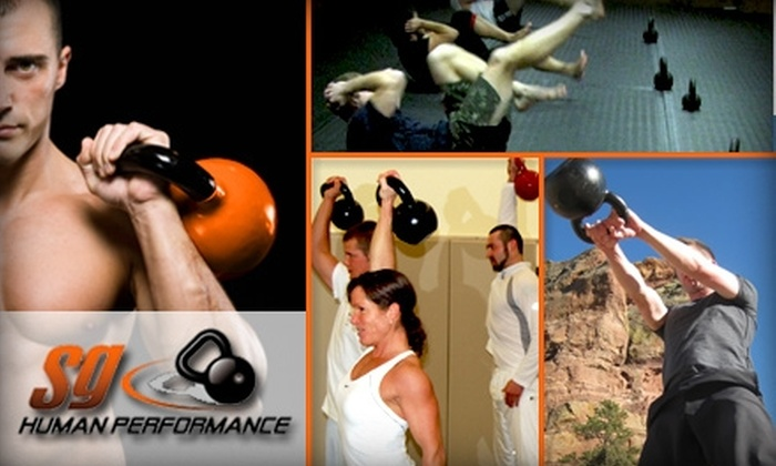 S G human Performance - North Central Omaha: $40 for One Month of Unlimited Kettlebell Classes Plus a Functional Movement Screening at SG Human Performance ($169 Value)