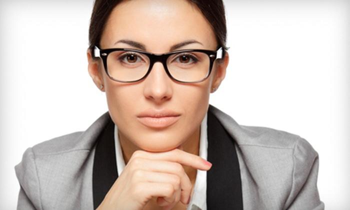 Eyeland Eyecare Center and Luxoptics - Multiple Locations: Prescription Eyewear or Eye Exam and Prescription Eyewear at Eyeland Eyecare Center and Luxoptics (Up to 88% Off)