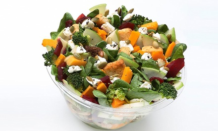 Custom Salads and Wraps at Just Salad (40% Off). Three Options Available.