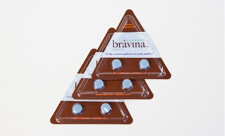 6-Count Package of Bravina Public Anxiety Speaking Pills