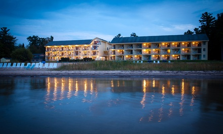 Stay at Pointes North Beachfront Resort in Traverse City, MI, with Dates into April