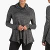 Women's Cowl-Neck Asymmetrical Tunic Top (Size L)
