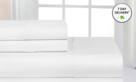1,000-Thread-Count 4-Piece Pima Cotton Sheet Set. Multiple Sizes and Colours from $59–$69.99.
