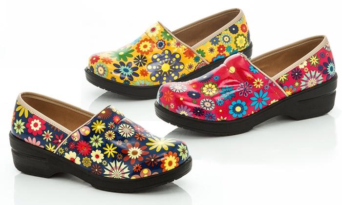 Rasolli Women's Floral Clogs