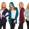 Women's Long Sleeve Hooded Cardigan