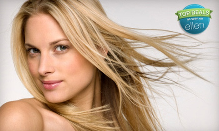 Sublime Styles - Multiple Locations: $79 for a Salon Package with Haircut, Scalp Massage, and Colour Treatment at Sublime Styles (Up to $200 Value)