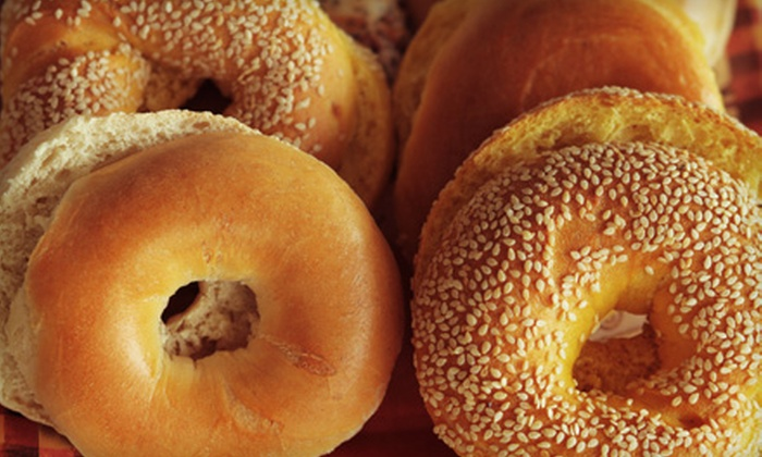 Bagel Garden - Top Road: Five Bagels or Sandwiches or $7 for $15 Worth of Bagels and Café Fare at Bagel Garden in Branchburg