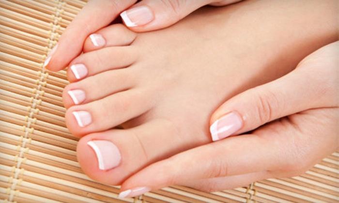 LA Nails - Rockville: Mani-Pedi or Shellac Manicure at LA Nails in Rockville (Up to 53% Off)