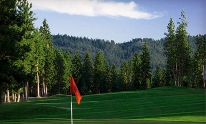 The Highlands Golf Course - Post Falls: 18 Holes of Weekday or Weekend Golfing for Two with a Cart at The Highlands Golf Course in Post Falls