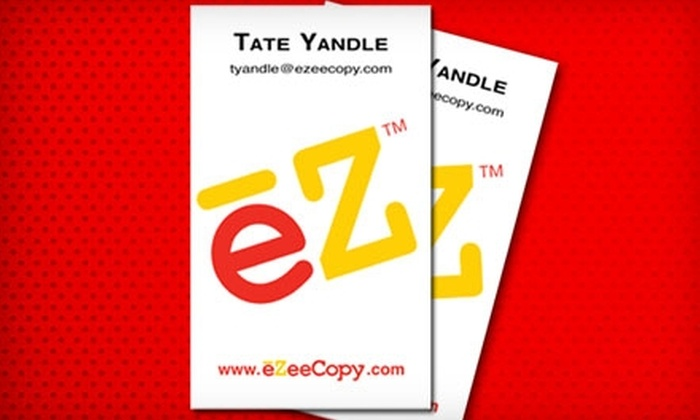 eZeeCopy - Multiple Locations: $25 for 500 Color Business Cards or 500 Color Party Flyers at eZeeCopy (Up to $59 Value)