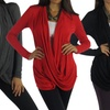 Free to Live Women's Plus Size Criss-Cross Cardigans