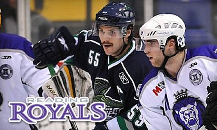 Reading Royals - Reading: $39 for Two Purple-Zone Tickets to a Reading Royals Hockey Game, Plus Two Royals Hats and a Puck