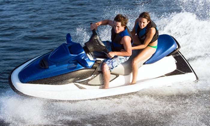 Dennis and Provincetown Parasail and Jet Ski  - Dennis: One-Hour of Jet Skiing for Up to Two With or Without Take-Home Video at Dennis and Provincetown Parasail and Jet Ski (Up to 53% Off)