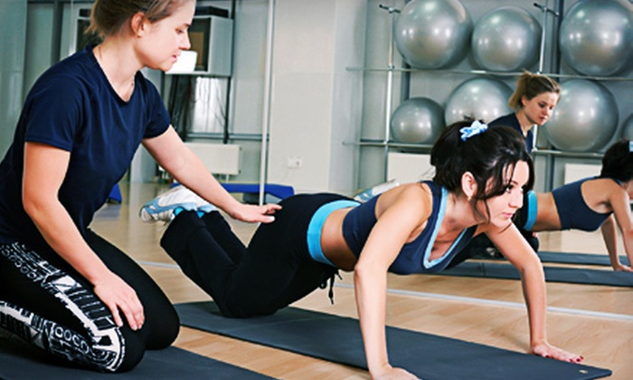 Dolphin Fitness Clubs - Multiple Locations: One- or Three-Month Gym Membership with One Personal-Training Session at Dolphin Fitness Clubs (Up to 84% Off)
