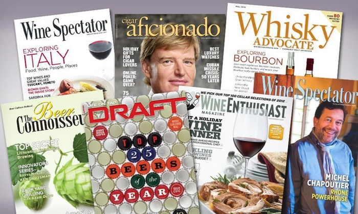 Cigar and Libations Magazines: Cigar and Libations Magazine Subscriptions (Up to 57% Off). Six Options Available. Free Shipping.