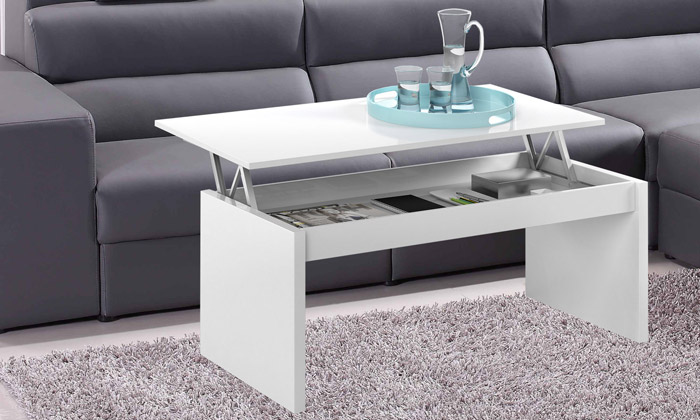 table basse avec plateau relevable groupon shopping