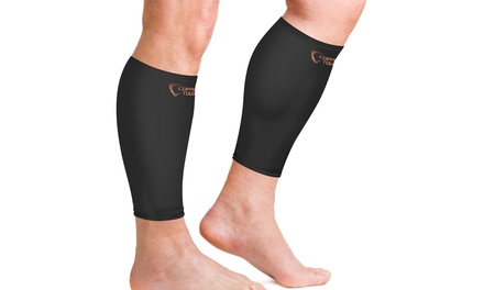 1 Pair of Copper Tough Calf Compression Sleeves