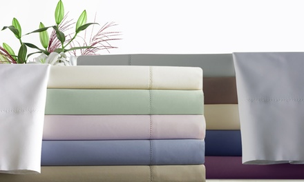 600-Thread-Count CVCEgyptian-Cotton-Rich Single-Hole Hem Sheet Set