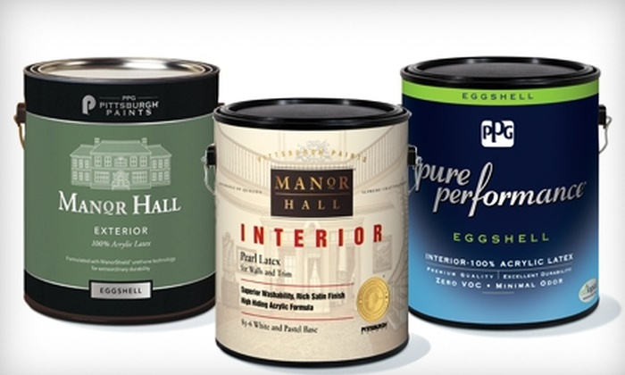 Painter's Supply - Multiple Locations: $10 for $20 Worth of Paint and Supplies or $25 for $50 Worth of PPG Pittsburgh Paints at Painter's Supply