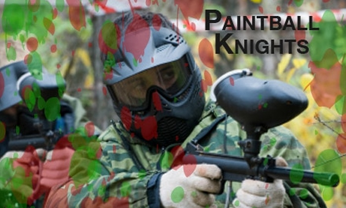 Paintball Knights - East Central San Antonio: $10 for Admission, Equipment Rental, 100 Paintballs, and All-Day CO2 at Paintball Knights