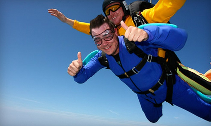 Skydive Greensburg - Greensburg: $139 for Tandem Free-Fall Skydive Excursion from Skydive Greensburg ($279 Value)
