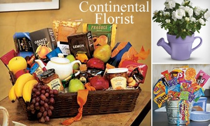Continental Florist - Vestavia Hills: $25 for $50 Worth of Flowers, Plants, and Snack Baskets from Continental Florist
