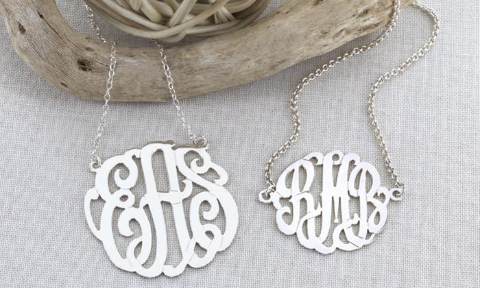 Monogram Online: $50 for Sterling-Silver Monogrammed Necklace and Bracelet Set from Monogram Online ($169 Value)