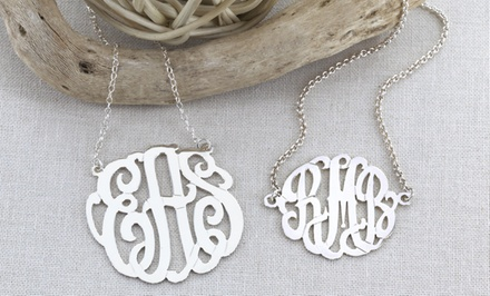 $50 for Sterling-Silver Monogrammed Necklace and Bracelet Set from Monogram Online ($169 Value)