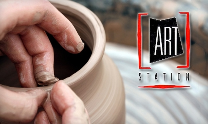 ART Station - Stone Mountain: $39 for a Date-Night Pottery Session at ART Station in Stone Mountain ($79 Value)