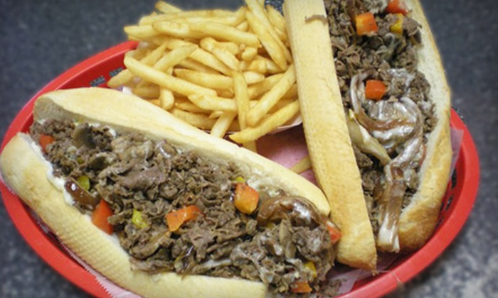 Philly's Cafe - Hilton Head Island: $11 for Sandwich Meal for Two at Philly's Cafe in Hilton Head (Up to $22.20 Value)