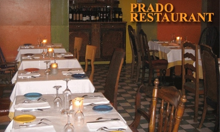 Prado Restaurant - Mid-Wilshire: $15 for $30 Worth of Caribbean Cuisine and Drink at Prado Restaurant in Larchmont Village