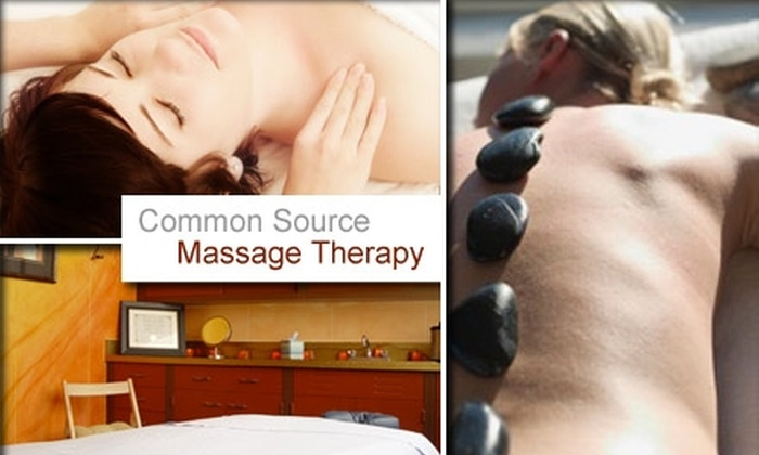 Common Source Massage Therapy - Downtown Indianapolis: $30 for Your Choice of Massage at Common Source Massage (Up to $75 Value)