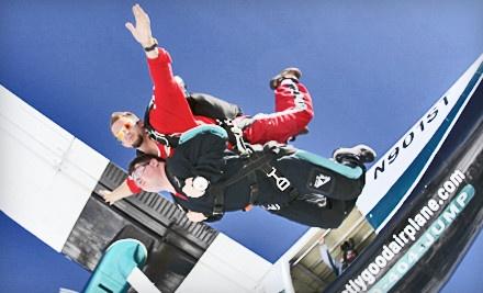 Tandem Skydiving Jump on Mon. - Thurs. ($230 value)  - Chicagoland Skydiving Center in Rochelle