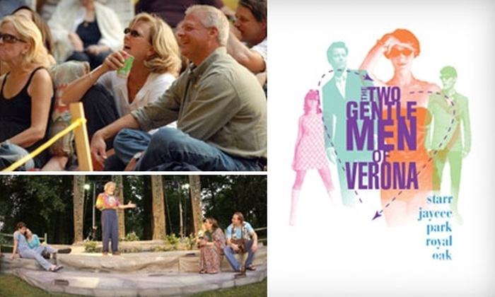 "Water Works Theatre Company - Royal Oak: $9 Admission to ""The Two Gentlemen of Verona"" at Water Works Theatre Company's Shakespeare in the Park in Royal Oak ($18 Value)"